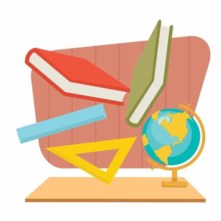 skole-bøker-globus-linjal