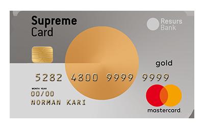 Supreme Card Gold kredittkort
